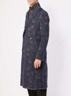 Пальто С Цветочным Принтом UMA WANG                                                                                                              синий цвет