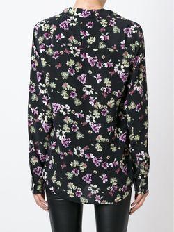 Рубашка С Цветочным Принтом Equipment                                                                                                              черный цвет