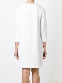 Платье Шифт С Рукавами Три Четверти Gianluca Capannolo                                                                                                              белый цвет
