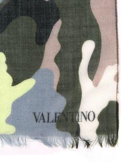 Камуфляжный Шарф Valentino Garavani                                                                                                              зелёный цвет
