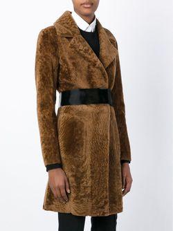 Пальто С Поясом Blancha                                                                                                              коричневый цвет