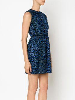 Расклешенное Платье С Леопардовым Принтом Victoria, Victoria Beckham                                                                                                              синий цвет