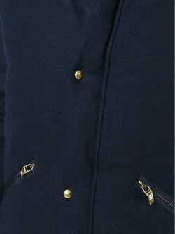 Дутая Куртка С Воротником-Стойкой Moncler Gamme Bleu                                                                                                              синий цвет