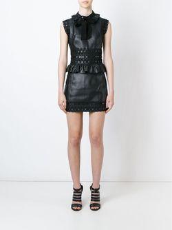 Платье Мини С Баской Dsquared2                                                                                                              черный цвет