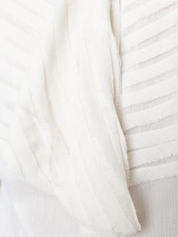 Прозрачная Блузка С Жабо ARMANI JEANS                                                                                                              Nude & Neutrals цвет