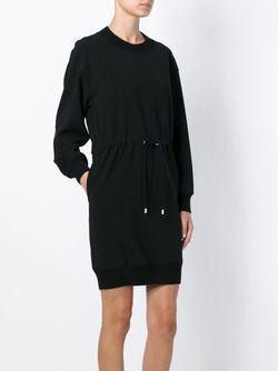 Платье-Свитер С Завязками На Талии Moschino                                                                                                              черный цвет