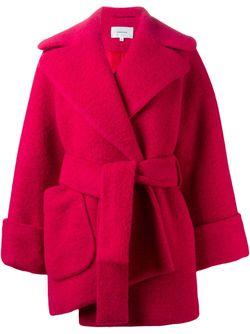 Укороченное Пальто-Халат Carven                                                                                                              красный цвет