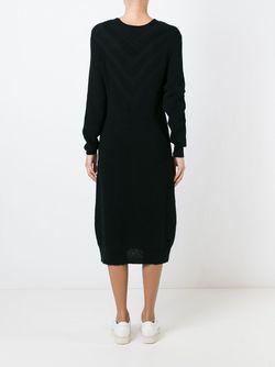 Платье-Свитер C V-Образным Вырезом Y-3                                                                                                              черный цвет