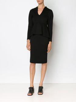 Приталенное Платье С Баской MAME                                                                                                              чёрный цвет