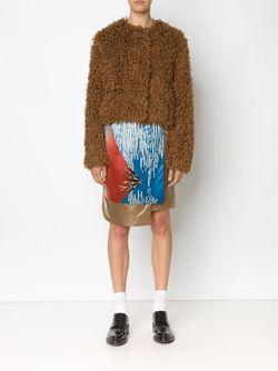 Пушистая Куртка INFANONYMOUS                                                                                                              коричневый цвет