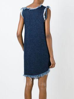 Асимметричное Джинсовое Платье Marques Almeida                                                                                                              синий цвет