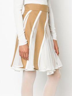Panelled Skater Dress Sacai                                                                                                              белый цвет