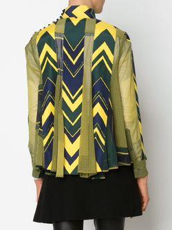 Блузка С Принтом И Панельным Дизайном Sacai                                                                                                              желтый цвет