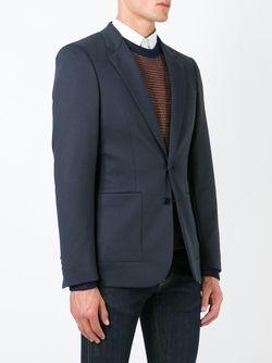 Пиджак С Застежкой На Две Пуговицы Paul Smith                                                                                                              синий цвет