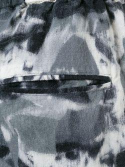 Укороченные Брюки С Принтом Zucca                                                                                                              серый цвет