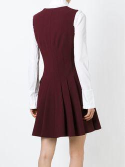 Плиссированное Короткое Платье Alexander McQueen                                                                                                              красный цвет