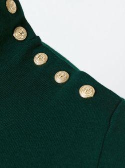 Свитер С Отворотной Горловиной Balmain                                                                                                              зелёный цвет