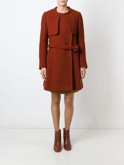 Пальто Со Съемным Воротником Chloe                                                                                                              красный цвет