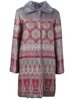 Жаккардовое Пальто Alberta Ferretti                                                                                                              розовый цвет