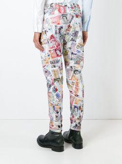 Брюки С Принтом Денежных Купюр Vivienne Westwood                                                                                                              многоцветный цвет