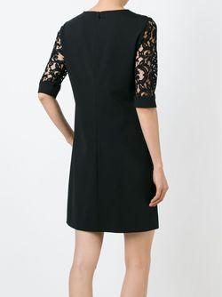 Платье Шифт С Кружевными Деталями Alberta Ferretti                                                                                                              чёрный цвет