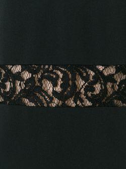 Платье Шифт С Кружевными Деталями Alberta Ferretti                                                                                                              черный цвет