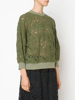 Топ С Цветочной Вышивкой MIYAO                                                                                                              зелёный цвет