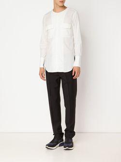 Рубашка Без Воротника С Накладными Карманами BED J.W. FORD                                                                                                              белый цвет