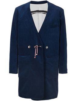 Пальто-Кимоно С Принтом На Подкладке IKIJI                                                                                                              синий цвет