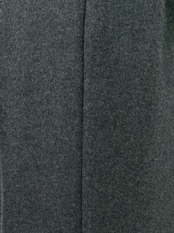 Укороченные Брюки С Контрастной Панелью WOOSTER + LARDINI                                                                                                              серый цвет