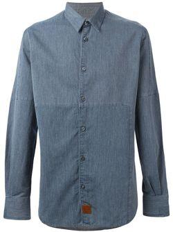 Джинсовая Рубашка AL DUCA D'AOSTA                                                                                                              синий цвет