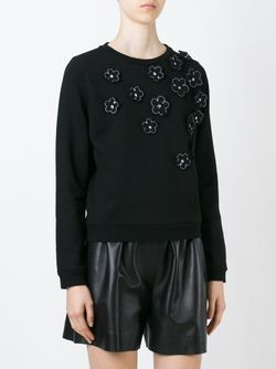 Flower Appliqué Sweatshirt JIMI ROOS                                                                                                              чёрный цвет