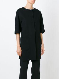 Пальто С Короткими Рукавами Jeff 'S Max Mara                                                                                                              черный цвет
