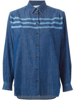 Джинсовая Рубашка В Полоску Paul By Paul Smith                                                                                                              синий цвет