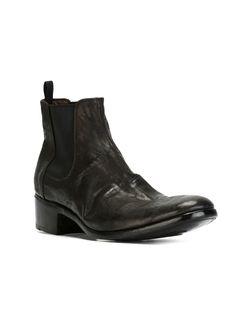 Ботинки С Состаренным Эффектом Premiata                                                                                                              серый цвет