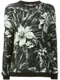Толстовка С Цветочным Принтом Balmain                                                                                                              черный цвет