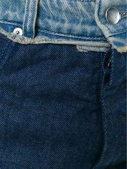 Укороченные Джинсы В Стиле Бойфренд MM6 by Maison Margiela                                                                                                              синий цвет