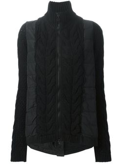 Пуховик С Трикотажными Вставками Moncler                                                                                                              чёрный цвет