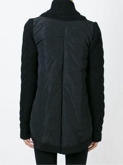 Пуховик С Трикотажными Вставками Moncler                                                                                                              черный цвет