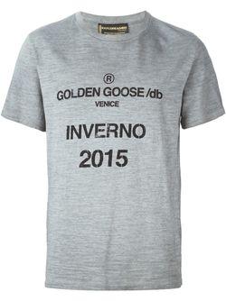 Футболка С Принтом Golden Goose                                                                                                              серый цвет