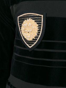 Толстовка С Контрастными Полосками Balmain                                                                                                              черный цвет