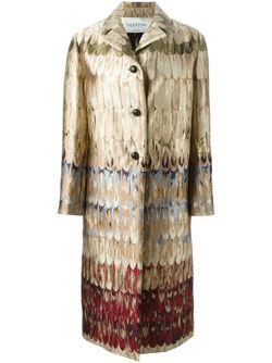 Однобортное Пальто Из Парчи Valentino                                                                                                              Nude & Neutrals цвет