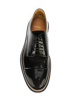 Туфли-Дерби С Мраморным Эффектом На Подошве Paul Smith                                                                                                              черный цвет