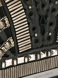 Декорированная Сумка Через Плечо Alberta Ferretti                                                                                                              черный цвет