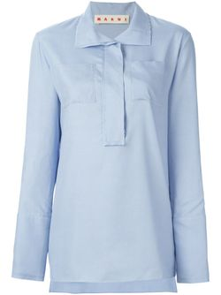 Рубашка С Карманами Marni                                                                                                              синий цвет