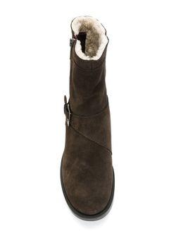 Сапоги На Молнии Jil Sander Navy                                                                                                              коричневый цвет