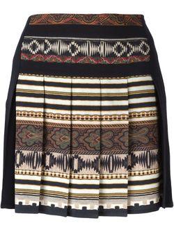 Плиссированная Юбка С Ацтекским Принтом Etro                                                                                                              чёрный цвет