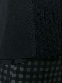 Многослойный Свитер С Короткими Рукавами Dondup                                                                                                              черный цвет