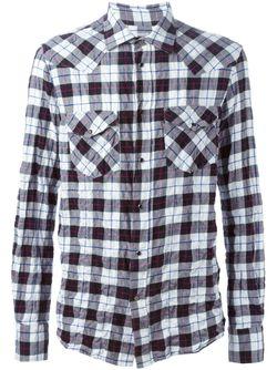 Рубашка В Клетку Dondup                                                                                                              белый цвет