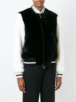Университетская Куртка Из Искусственного Меха No21                                                                                                              черный цвет
